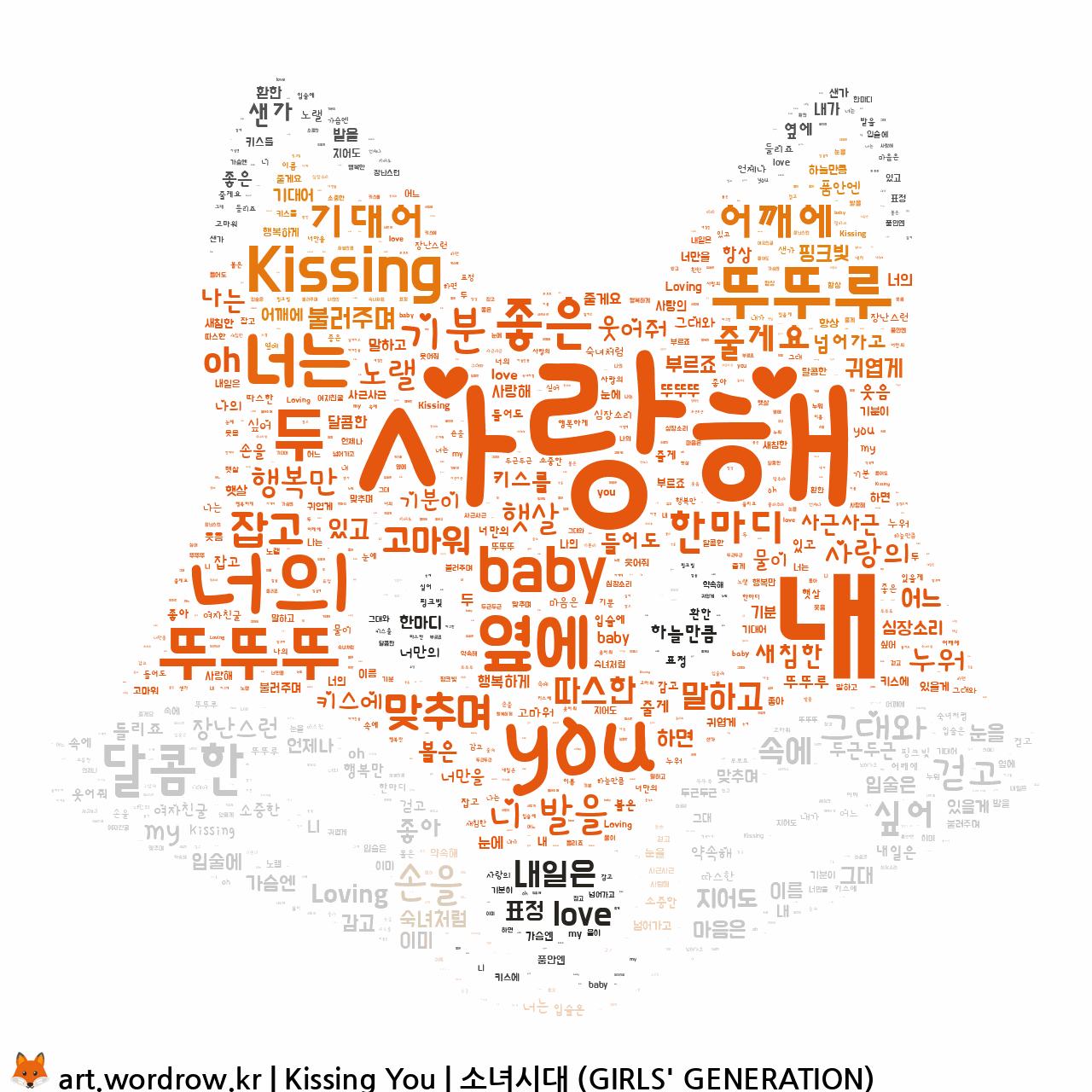 워드 아트: Kissing You [소녀시대 (GIRLS' GENERATION)]-1